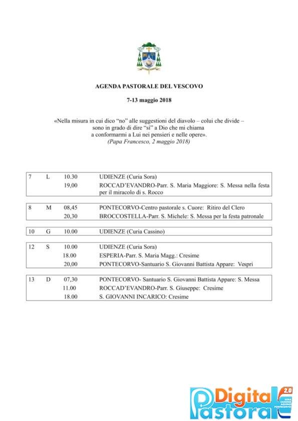 Agenda 7-13 maggio 2018-1